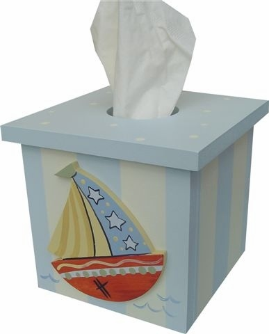 Nautical Sailboat tissue box cover and decor at Jack and Jill Boutique