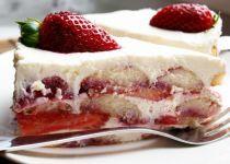 Letní jahodový dort