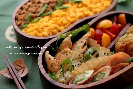 3色そぼろ丼と大根餅のお弁当~パパのお弁当~ の画像|あ~るママオフィシャルブログ「毎日がお弁当日和♪」Powered by Ameba