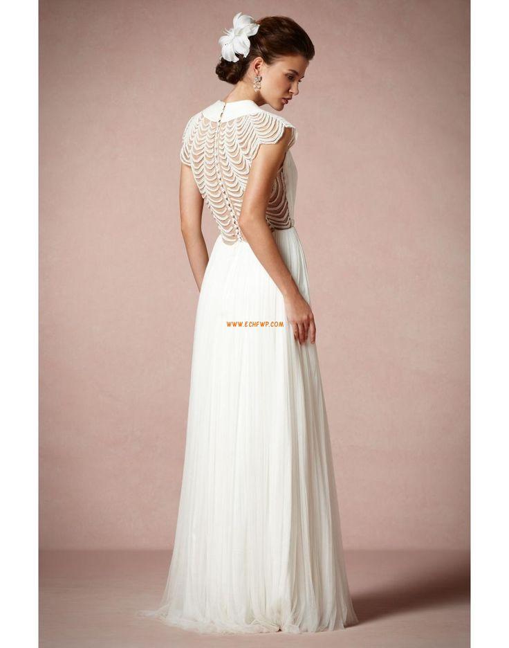 Pouzdrové / Tužkové Tyl Přírodní Designer Svatební šaty