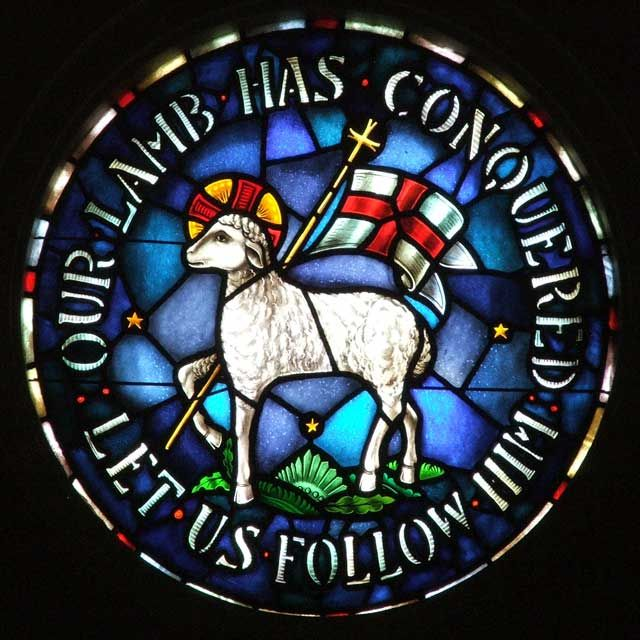 moravian seal - Our lamb has conquered. Let us follow Him.