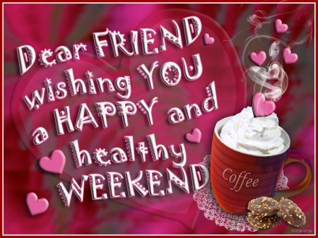 wekend coffe photos | ... wishes, weekend, cookies, happy weekend, love, hearts, coffee, cream