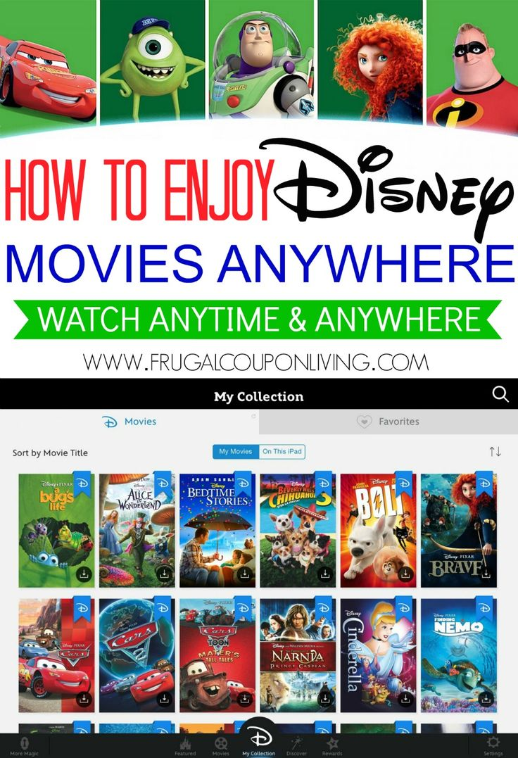 Disney Movies Anywhere | Stream Your Disney DVD Purchases. Details on Frugal Coupon Living.