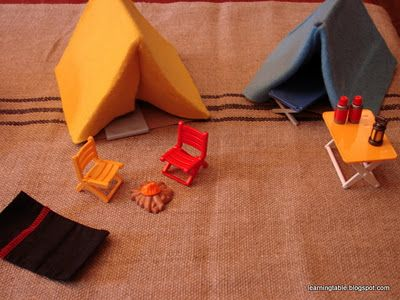 Cereal Box Tents for lego guys, action figures or polly pocket
