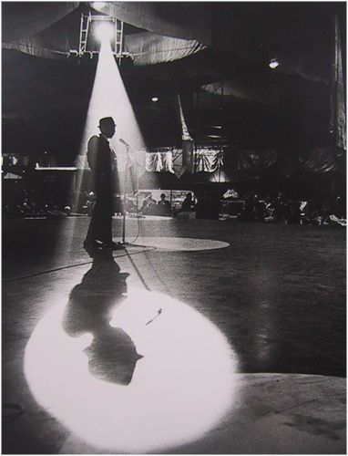 Dennis Stock, Frank Sinatra on Stage for JFK Inaugural Ball Rehearsal…