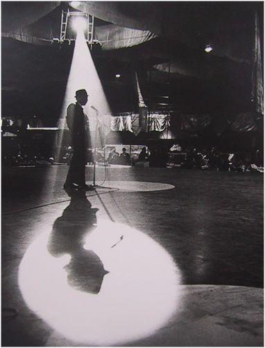 Dennis Stock, Frank Sinatra on Stage for JFK Inaugural Ball Rehearsal, Washington DC, 1961