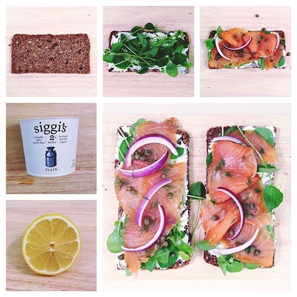 ... -style yogurt: skyr — Open Face Smoked Salmon Sandwich recipe