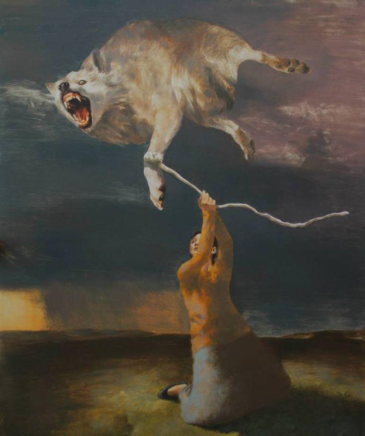 "Saatchi Art Artist Rudolf Kosow; Painting, ""The Conqueror"" #art"