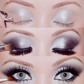 Eye makeup - step by step