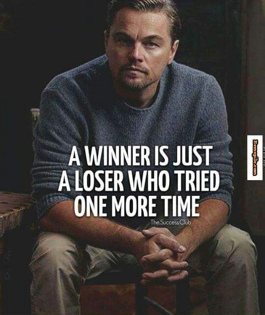 When you except that your a loser... that's when things start to improve.