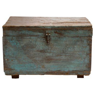 Check out this item at One Kings Lane! Scandinavian Painted Trunk