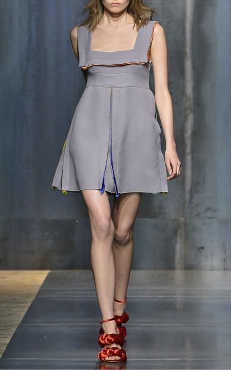 Marco de vincenzo trunkshow look 3 on moda operandi for California fashion designers directory