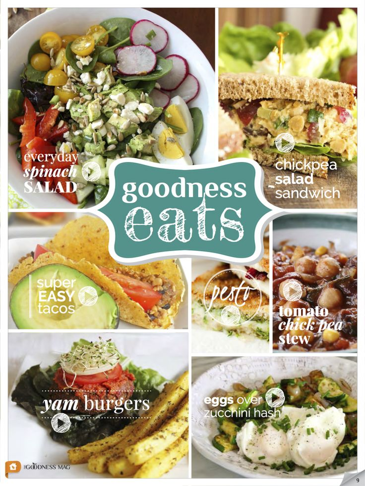 Healthy meal inspirations - The Goodness Magazine