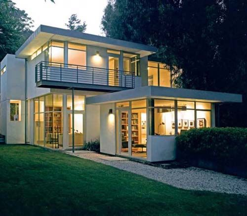 Powerful simple modern home inspiration design charming landscape green lawn chalon road residence exterior