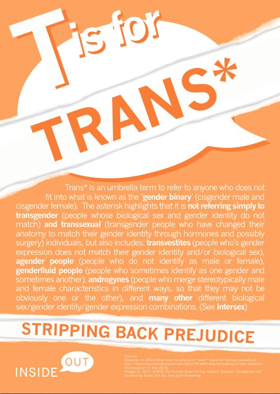 Some trans* 101: http://catharsisproductions.com/blog/2013/09/25/boy-brain-girl-body-a-candid-conversation/