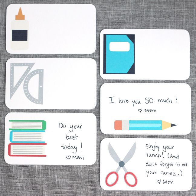 School Lunch Notes for Kids created with the Silhouette