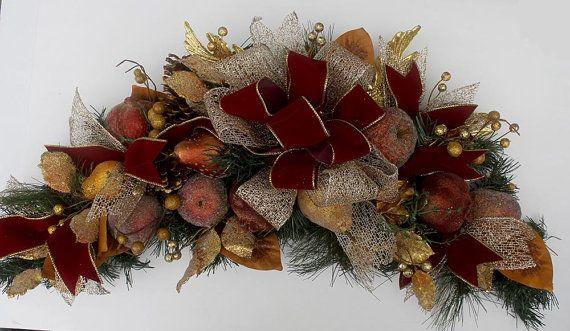 Vánoční ovoce lup, lup Holiday, vánoční lup za předními dveřmi, vánoční výzdoba, della Robbia lup, hosteska dar, vánoční ozdoby