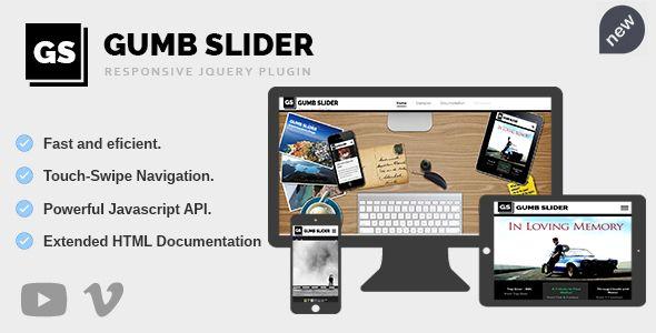 Gumb Slider - Responsive jQuery Image Gallery - Price $14