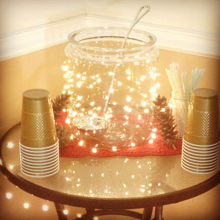Wedding Punch Ideas: Twinkle Lights On Punch Bowl