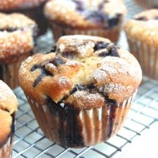 Famous Department Store Blueberry Muffins – these overstuffed muffins, with their sugary tops, are a Boston institution.