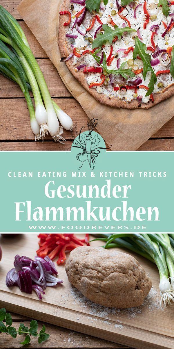 Sommerlicher Vollkorn Flammkuchen – Clean Eating