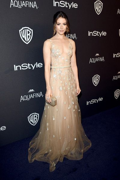 Amanda Crew in Yanina Couture - The 2016 InStyle And Warner Bros. 73rd Annual Golden Globe Awards Post-Party