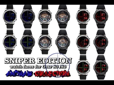 Gear S3 Sniper Edition - watch faces for Gear S3 / S2 - Andrasi Collection - Andrasi.ro