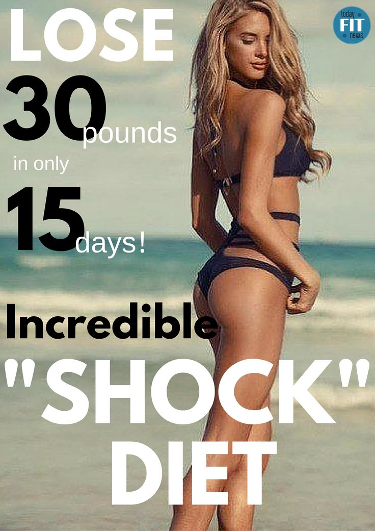 "Incredible ""Shock"" Diet - Lose 30 Pounds In Only 15 Days!"