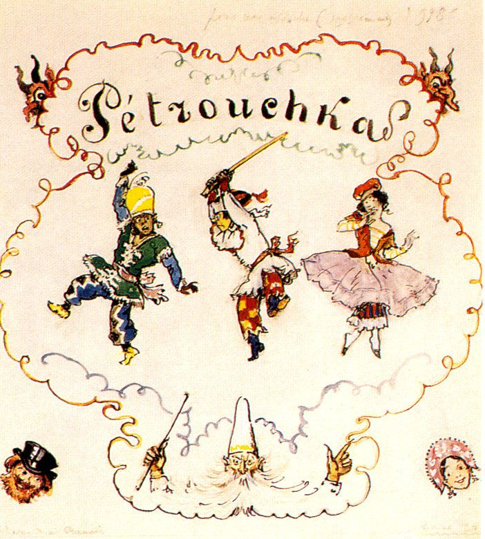 ¤ Petrushka. Poster sketch - Alexandre Benois Petrouchka.