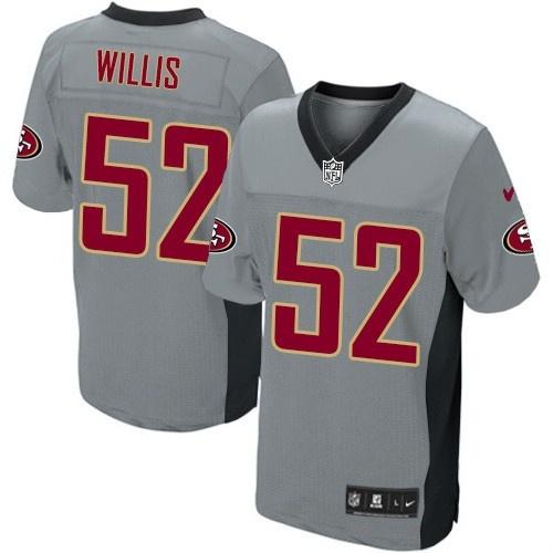 Nike Elite Youth San Francisco 49ers http://#52 Patrick Willis Grey Shadow NFL Jersey$79.99