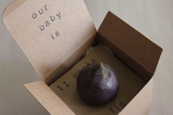11 week Pregnancy Announcements How Big Is My by ThePartyPosse, $12.99