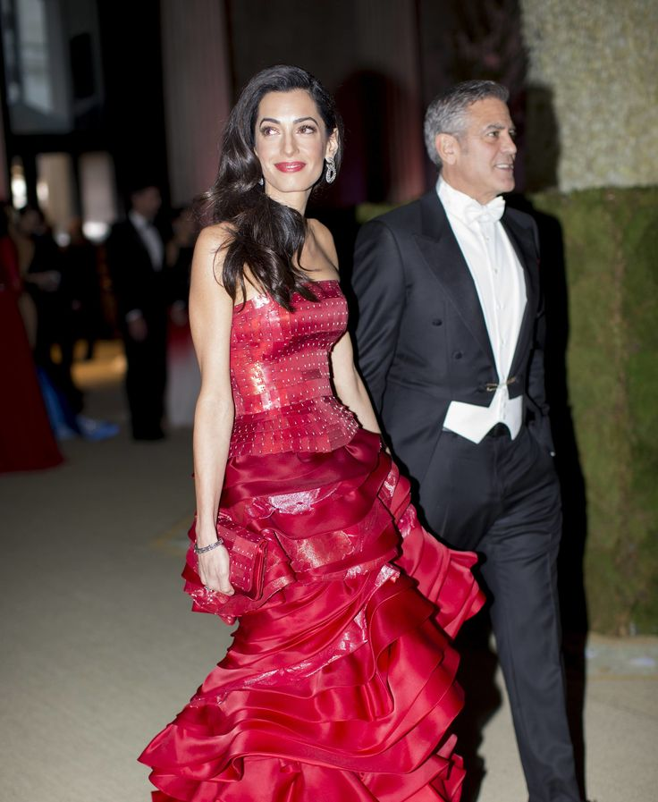 Amal Clooney in Maison Margiela at the Met Gala 2015