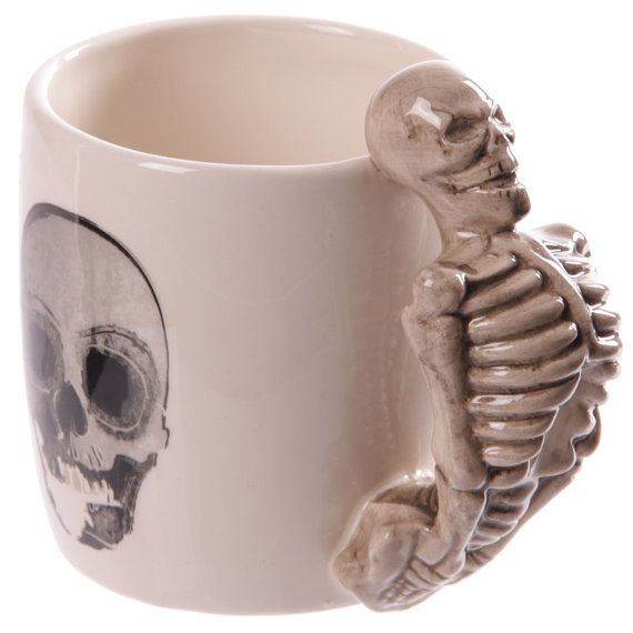 Coffee Mug Novelty Skeleton Design Shaped Skull by getgiftideas