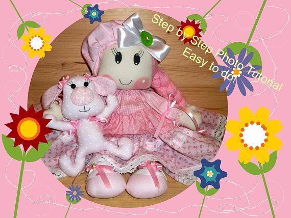 Easy to sew Cloth Doll Pattern & Cute Little Dog Sweet Rag