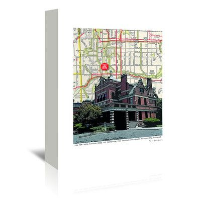 East Urban Home Kansas City Art Institute by Lyn Nance Sasser and Stephen Sasser Graphic Art on Wrapped Canvas Size: