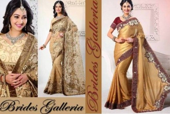 Brides Galleria Party Wear Lehenga Style Sarees 2014 for Girls