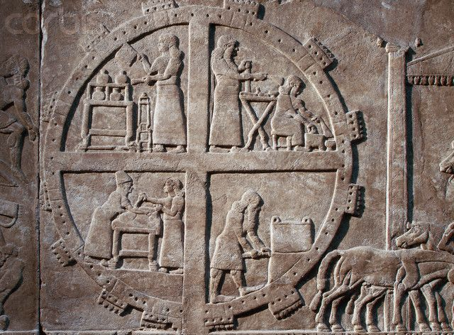 Assyrian Camp from the reliefs of Assurnasirpal II's palace Nimrud 9th c. BC
