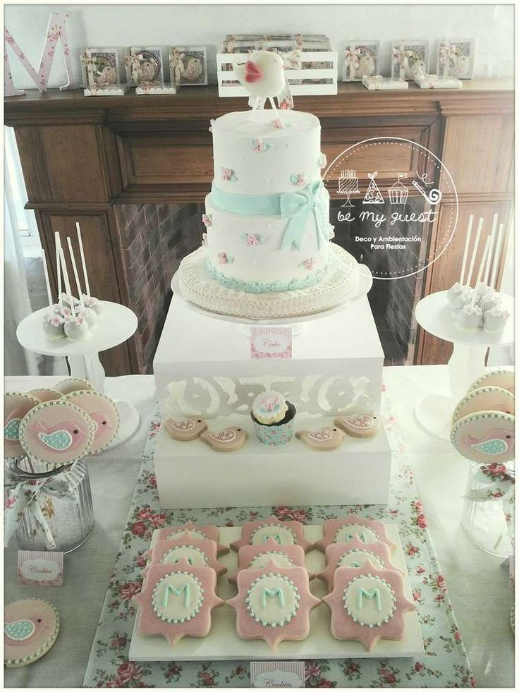Romantic Shabby Chic Baptism Party Ideas | Photo 32 of 50
