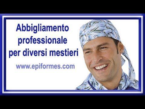 Abbigliamento professionale per diversi mestieri.Grembiuli, giacche e cappelli