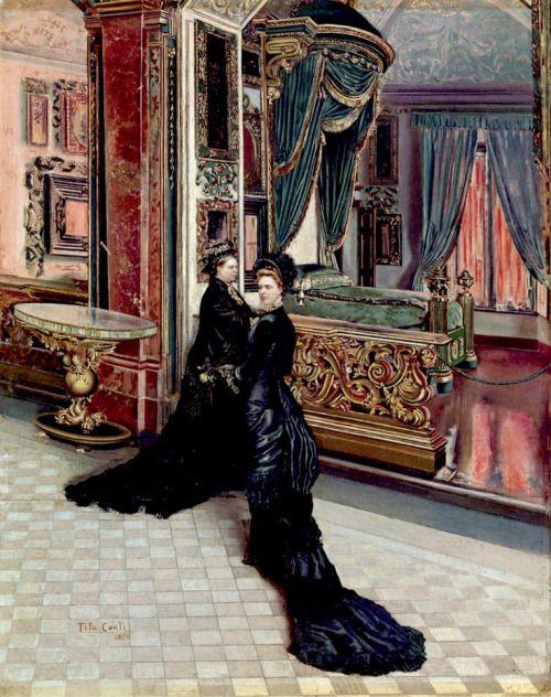 Tito Conti, Queen Victoria and Princess Royal, 1879