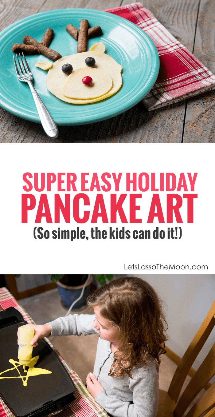 Breakfast for Dinner :: A Holiday-Weekend Family Tradition *These Christmas pancake art designs are so simple. Love that even the kids can make them. So fun!