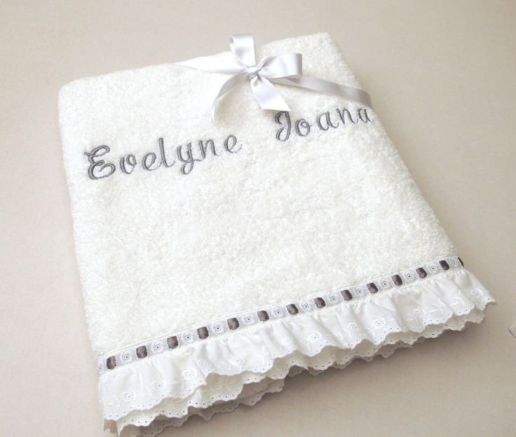 2 Pieces Towel Set Orthodox Baptism Bath Towels Baptism Gift Embroidered Terry Towel Eyelet Lace Satin Ribbon Monogram Baby Towel Greek by VirgoCottonLinen on Etsy #BaptismTowel #Baby #BabyShower #GrayBaby #GrayShower #GreekCotton #VirgoCottonLinen