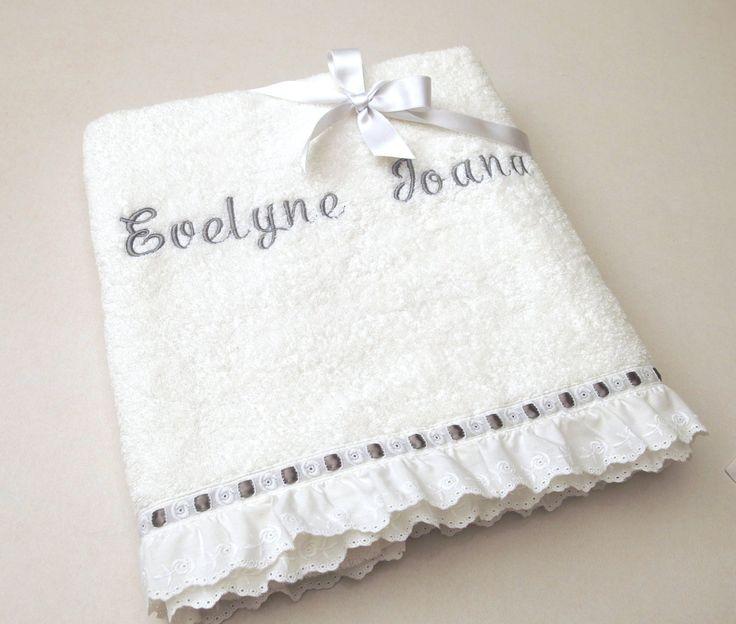 2 Pieces Towel Set Orthodox Baptism Bath Towels Baptism Gift Embroidered Terry Towel Eyelet Lace Satin Ribbon Monogram Baby Towel Greek by VirgoCottonLinen on Etsy #BaptismTowel #Baby #BabyShower #GrayBaby #GrayShower #GreekCotton #VirgoCottonLinen