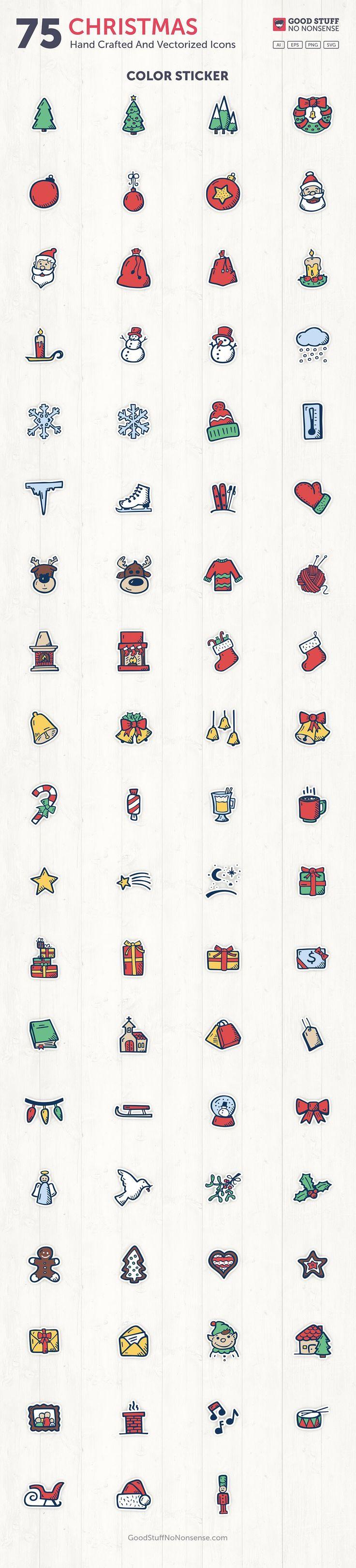 Christmas Hand Drawn Icons Basic icon, flaticon, icons