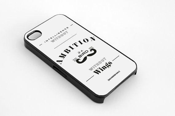 Salvador Dali quote iPhone 5  5s case iphone 44s by MessProject, €13.00  #blackandwhite #wallartdecor #blackandwhite #artprint #inspirationalprint #quote #literary #etsy