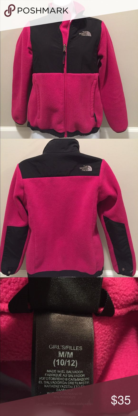💜Girls North Face Denali - M (10/12) 💜Girls North Face Denali - M (10/12)  This classic North Face Jacket is so warm with thick fleece and a wind resistant top panel.  Perfect for layering under winter coats or wear alone during chilly Fall days.  Very good condition! 💜 The North Face Jackets & Coats