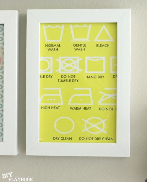 Adorable laundry room print to jazz up your space.