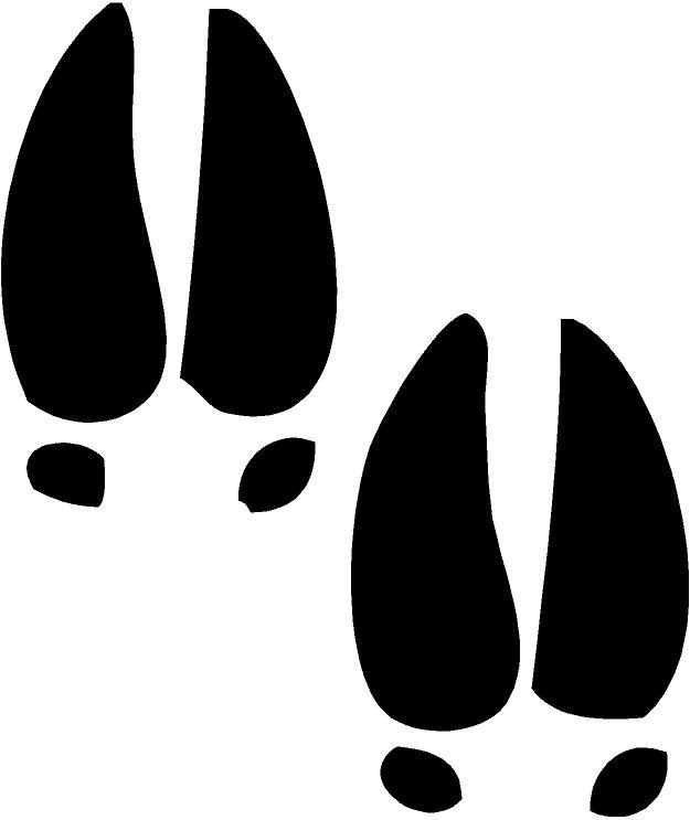 deer tracks clip art | Deer Tracks Sheet Of 20 Vinyl Decal