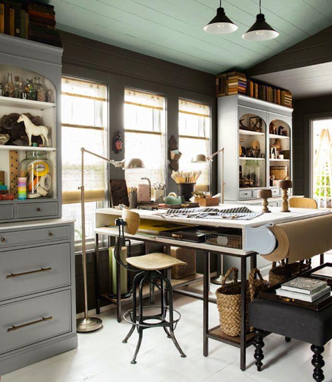 22 Creative Workspace Ideas for Couples16 best Amanda s Dream House images on Pinterest   Home decor  . Studio Home Design. Home Design Ideas