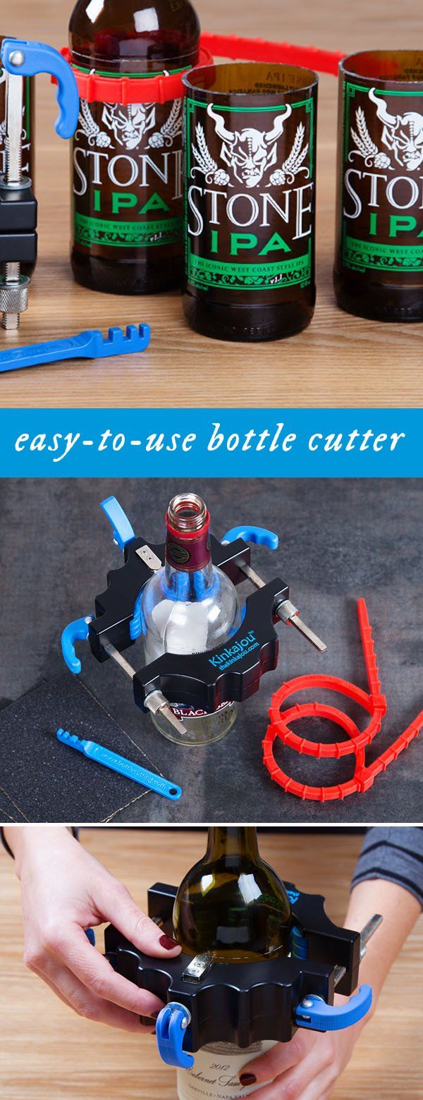 This nifty bottle cutter, discovered by The Grommet, makes it easy to transform the average bottle into all sorts of functional and decorative objects.
